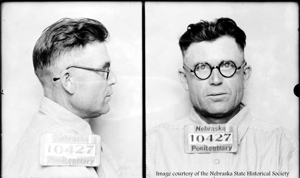 What crime did this man commit? Image courtesy of the Nebraska State Historical Society.