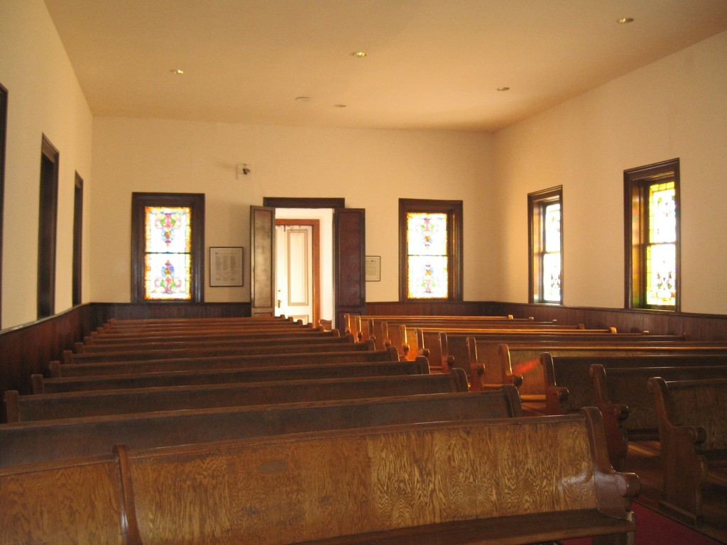 Interior of the Old First Presbyterian Church