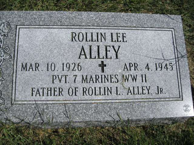 Pvt. Allley's headstone at the Springfield Cemetery.